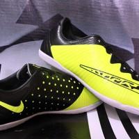 sepatu futsal Nike Elastico Finale III Hijau Stabilo (real pict)