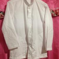 baju koko anak putih polos