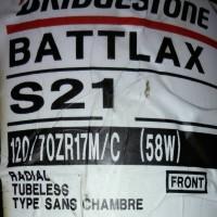 Ban Depan Bridgestone Battlax 120/70-17 S21 Hypersport Tubeless Motor