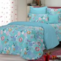 bed cover motif anak sailor warna biru ukuran sprei single