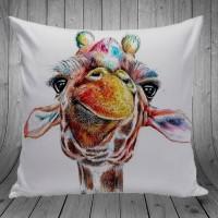 Bantal Dekorasi Sofa / Mobil - Giraffe Paint