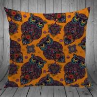 Bantal Dekorasi Sofa / Mobil - Owl Orange Pop