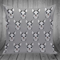 Bantal Dekorasi Sofa / Mobil - Grey Husky