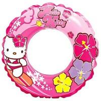 Intex Ban Renang Tiup Bulat Swim Ring Hello Kitty Pink
