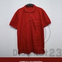 Polo Shirt Polos / Kaos Polo Polos - Merah Maroon
