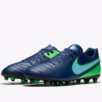 Sepatu Bola Nike Original Tiempo Rio III Leather Blue FG 819233-443