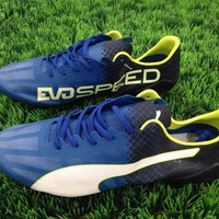 Sepatu Bola Puma Evospeed SL - Biru Hitam