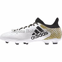 Sepatu Bola Adidas 16.3 FXG White Black Gold Original 100% New 2016