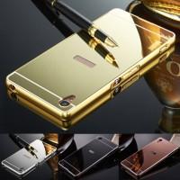 Sony XPeria z5 premium Mirror Metal Bumper Back Cover C Berkualitas