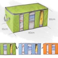 STORAGE BOX 65 liters bamboo charcoal clothing boxes tempat baju