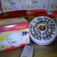 Lampu Emergency Remote XRB 35 Led Lamp Darurat 2 Mode Nyala Warm White
