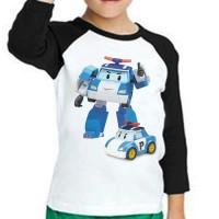 T-shirt Kids Raglan Robocar Poli