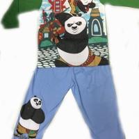 Baju tidur anak/setelan/piama/piyama kaos KungFu Panda Long 8,10,12