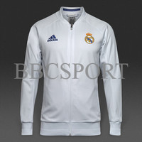 [GROSIR/ECER] JAKET REAL MADRID ANTHEM WHITE 2016/2017 GRADE ORI