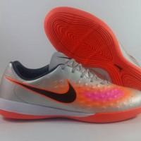 Sepatu Futsal Nike Magista Onda II Silver Orange IC Replika Impor