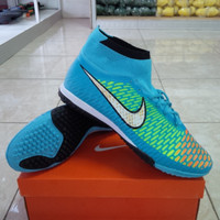 Sepatu Futsal Grade Super, Nike Magista Obra TF, Biru Muda.
