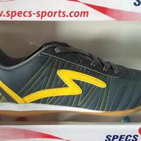 Sepatu Futsal Specs Horus In Dark Charcoal Yellow 2016 New Model Origi