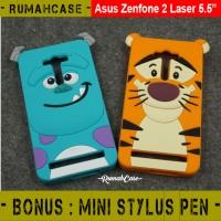 Softcase Sulley Tiger Cute 3D Soft Case Casing Asus Zenfone 2 Laser