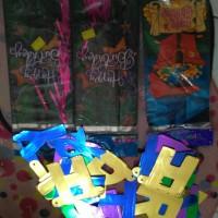 Banner HAPPY BIRTHDAY 2 + Goody Bag 50 pcs