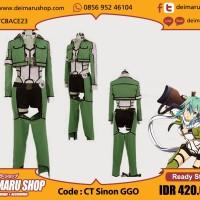 Kostum Cosplay Sinon Set GGO Sword Art Online 2 SAO [CT Sinon GGO]
