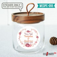 label sticker souvenir pernikahan wedding kebaya pengantin WEDPC095
