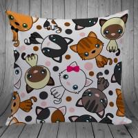 Bantal Dekorasi Sofa / Mobil - Cat Cute Stand - 30x30