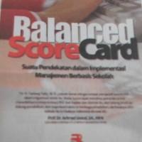 Balance Scorecard Dr Dadang Dally, M.Si