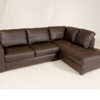 sofa l mewah (sintetis)