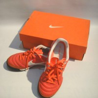 Nike Jr Tiempo Leather Red Soccer Shoes