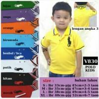 Baju Atasan Polo Shirt Anak Cowok Laki Boy Kids Polos