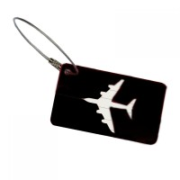Name Tag ID Tas Koper Plane - Aluminum Metal Travel Luggage Bags Tag