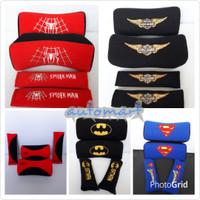 bantal mobil 2in1 harley, spiderman, batman, superman