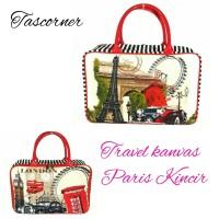 tas travel Paris kincir travelbag anak dewasa koper handcarry