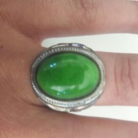 cincin batu lumut hijau garut