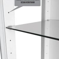 aksesoris lemari pajang rx-2: ambalan kaca shelf