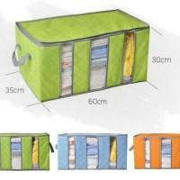 Storage Box 65 liters bamboo , clothing boxer tempat baju pakaian