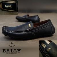 Sepatu Pria Bally Mocasin Santai Kulit Asli