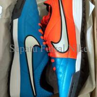 Sepatu Futsal Nike Tiempo Genio TF Blue Orange Original
