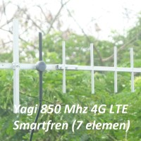 Antena induksi 7EL Yagi 4G 850 Smartfren M2Y M2S M3Y M3Z GSM/3G 900