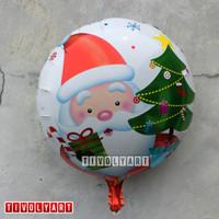 Balon Foil Bulat Xmas / Balon Foil Christmas 003