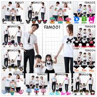 Pakaian Family 2Dewasa 2Anak FAM Couple Pasangan Kaos Baju Sablon DTG