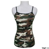 Tank Top Wanita Hot Spandek Loreng  TNP 11