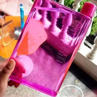 Botol Minum Memo Bottle A5/ MemoBottle A5 420ml Pink