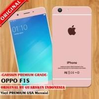 [Original] Premium Garskin Oppo F1S - iPhone Rose Gold/Pink