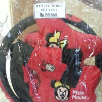 BANTAL MOBIL 6 IN 1 MICKEY MINNIE MOUSE SNI Good Quality!