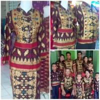 Stelan batik songket WANITA rok n blus