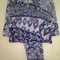 Baju tidur daster piyama baby doll lengan panjang batik kaos