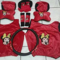 bantal mobil 6in1 mickey mouse