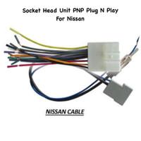 Socket / Soket Audio Head Unit PNP Plug And Play NISSAN + Kabel Antena
