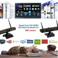 Smart Android TV box with Webcam - quad core with double antenna